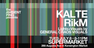 Kalte, live July 8 at the Supermarket
